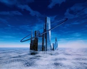 未来都市のイメージ CGの写真素材 [FYI03180403]