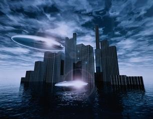 未来都市のイメージ CGの写真素材 [FYI03180405]