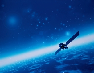 人工衛星イメージの写真素材 [FYI03180407]