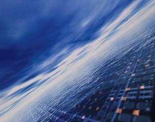 未来都市の俯瞰 CGの写真素材 [FYI03180412]