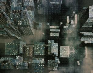 ビル群の俯瞰 CGの写真素材 [FYI03180418]