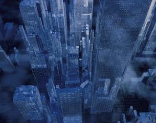 ビル群の俯瞰(青) CGの写真素材 [FYI03180421]
