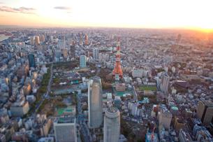 芝公園と東京タワーの写真素材 [FYI03180675]