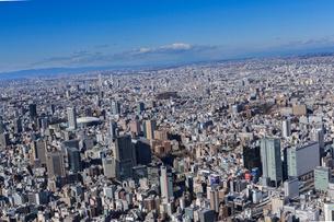 千代田区上空よりお茶の水周辺と東京ドームの写真素材 [FYI03180911]