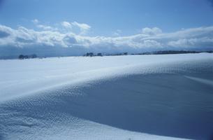 湖畔の雪紋 猪苗代湖の写真素材 [FYI03181166]