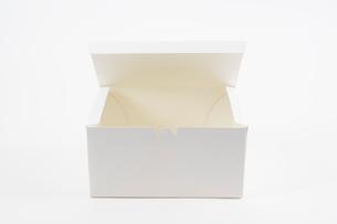 白いボックスの写真素材 [FYI03182001]