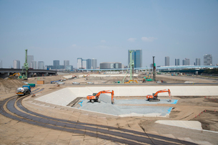 豊洲新市場工事現場の写真素材 [FYI03183137]
