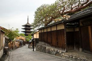 八坂通と八坂の塔の写真素材 [FYI03183619]