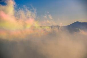 彩雲と八ヶ岳連峰の写真素材 [FYI03185175]