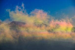彩雲と八ヶ岳連峰の写真素材 [FYI03185224]