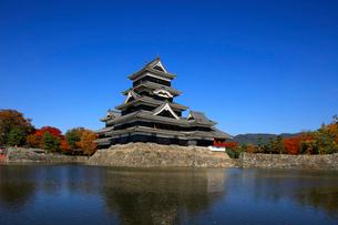 現存する日本最古の五重天守である松本城の写真素材 [FYI03185963]