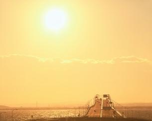 海ほたるからの東京アクアライン   木更津 千葉県の写真素材 [FYI03187147]