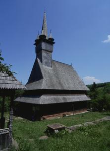 ブデシティの木造教会の写真素材 [FYI03188682]