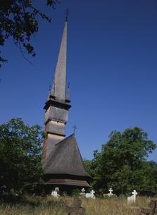 シュルデシティの木造教会の写真素材 [FYI03188683]