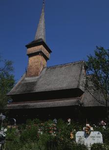デセシティの木造教会の写真素材 [FYI03188685]