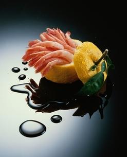 アマエビと柚子の写真素材 [FYI03188834]