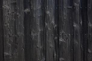 黒塗りの板目の写真素材 [FYI03189526]