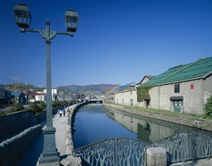 小樽運河  北海道の写真素材 [FYI03189671]
