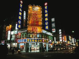 西門町夜景  台北 台湾の写真素材 [FYI03189985]