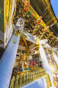 日光東照宮 陽明門の彫刻と西側脇の間 随身の写真素材 [FYI03191136]