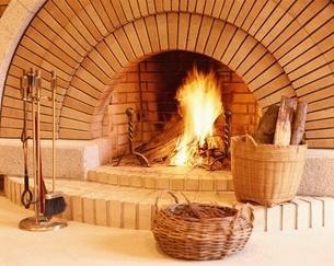 暖炉の写真素材 [FYI03192363]
