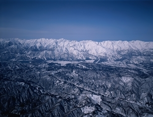 冬の北アルプスの空撮  長野県の写真素材 [FYI03192368]