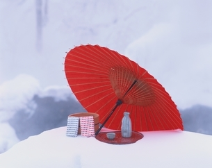 雪の露天風呂イメージ  吹上温泉 北海道の写真素材 [FYI03192391]