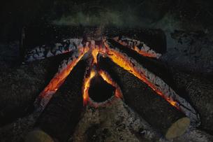 暖炉の火の写真素材 [FYI03192489]