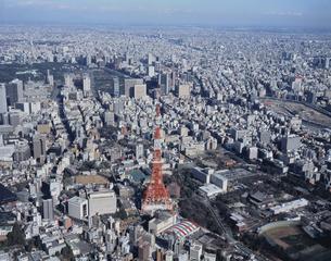 東京タワー周辺より東京駅方面 東京都の写真素材 [FYI03193379]