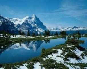 アイガーと湖   スイスの写真素材 [FYI03193569]
