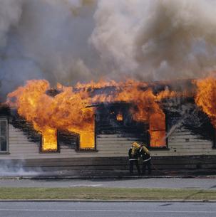 ハミルトン公害の火事 北島 ニュージーランドの写真素材 [FYI03193714]