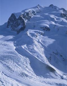 モンテローザ・ゴルナー氷河   ツェルマット スイスの写真素材 [FYI03193774]