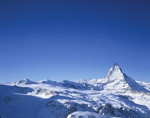 冬のマッターホルン ツェルマット  スイスの写真素材 [FYI03193909]
