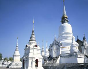 ワット・スアン・ドーク 花園寺院 チェンマイ タイの写真素材 [FYI03193913]