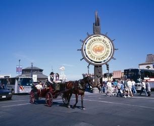 フィッシャーマンズワーフの看板  サンフランシスコ アメリカの写真素材 [FYI03194043]