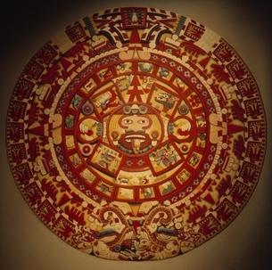 人類学博物館のアステカカレンダー メキシコの写真素材 [FYI03194239]