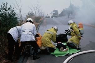 車輛火災訓練の写真素材 [FYI03194491]