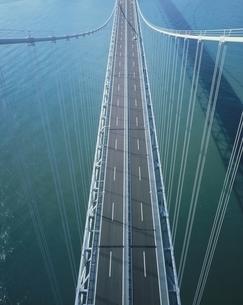 ハイアングルから因島大橋 広島県の写真素材 [FYI03194511]