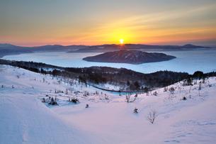 美幌峠の日の出の写真素材 [FYI03197027]