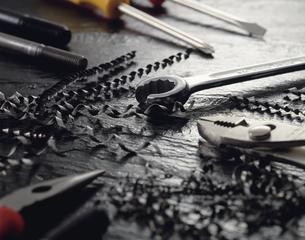 鉄工具イメージの写真素材 [FYI03197162]