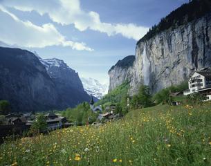 ウェンゲン谷の風景 スイスの写真素材 [FYI03198300]