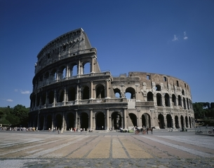 コロッセオ ローマ イタリアの写真素材 [FYI03198325]