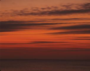 日豊海岸の日の出前の空  宮崎県の写真素材 [FYI03199488]