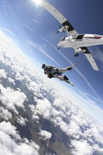 スカイダイビングの写真素材 [FYI03199781]