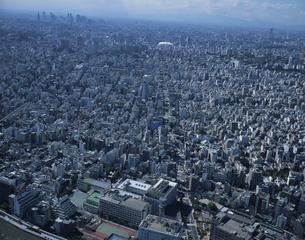 蔵前・浅草・東京ドーム周辺の空撮  東京都の写真素材 [FYI03199787]