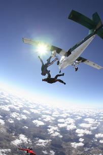 スカイダイビングの写真素材 [FYI03199793]