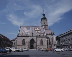 聖マルコ教会  ザグレブ クロアチアの写真素材 [FYI03201076]