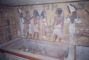 ルクソールの王家の谷 ツタンカーメン墓  エジプトの写真素材 [FYI03201080]