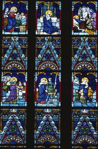 St.マーチャーシ教会のステンドグラス ブダペストの写真素材 [FYI03201109]