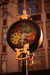 おもちゃ屋の時計の写真素材 [FYI03201191]